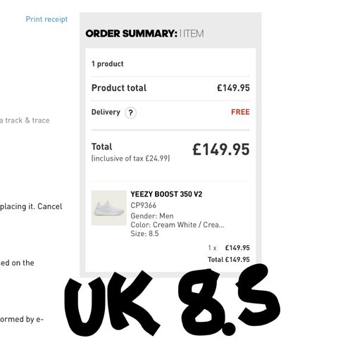 96dbf9289c9fa Adidas Yeezy Boost UK 8.5 Bought online from Adidas 9.5 also - Depop