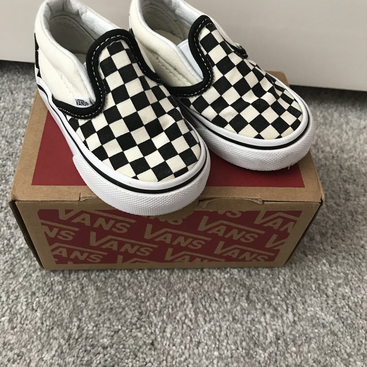 aa189f8215f4 Classic toddler vans size 4 worn once  babygirl  babyboy - Depop