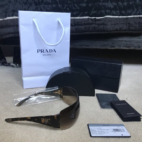 7ef9002437d0 Reduced** Authentic vintage brown Prada sunglasses with on - Depop