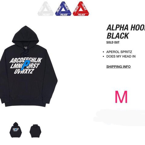 57e0853a0ae9 Palace Alpha hoodie  Size shows on the pictures. These are - Depop