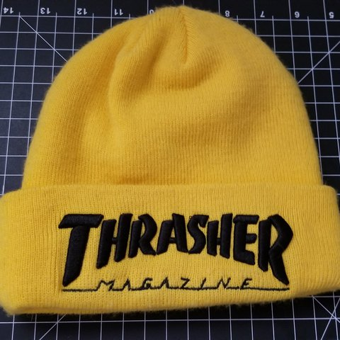 Thrasher Beanie Thrasher Magazine Yellow Worn a few times I - Depop 52112a903fb