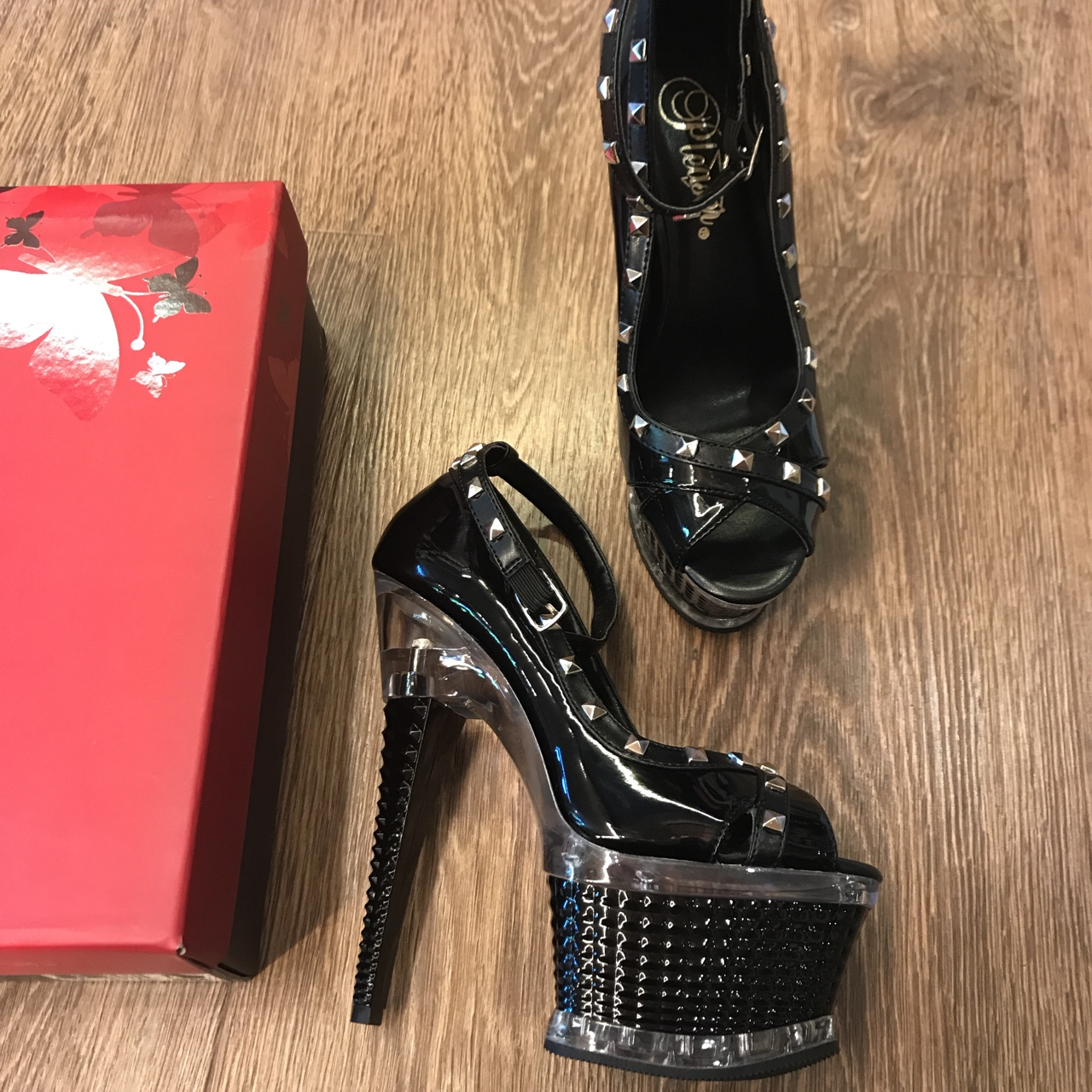 Illusion 665 fetish style platforms shoes with high Depop