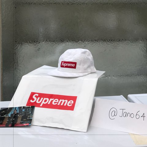 815cb54f Brand New Supreme Checkered Cap in ICONIC white and red box - Depop