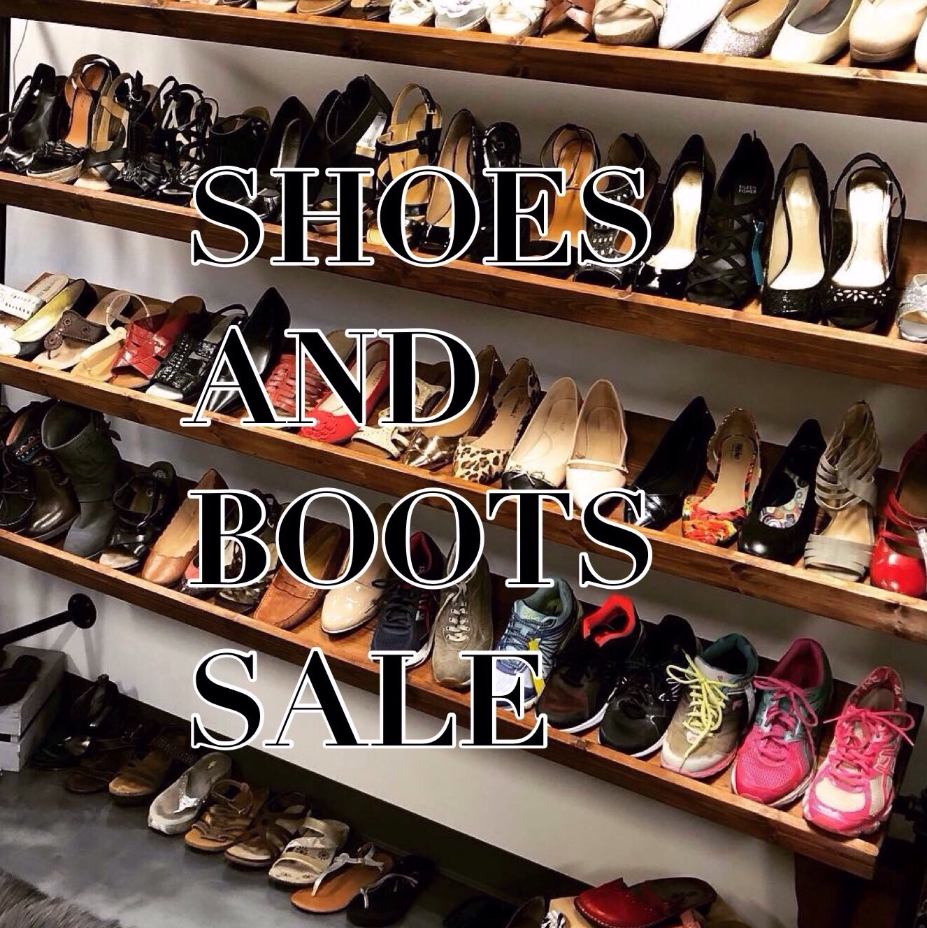 All shoes/boots buy one get one half