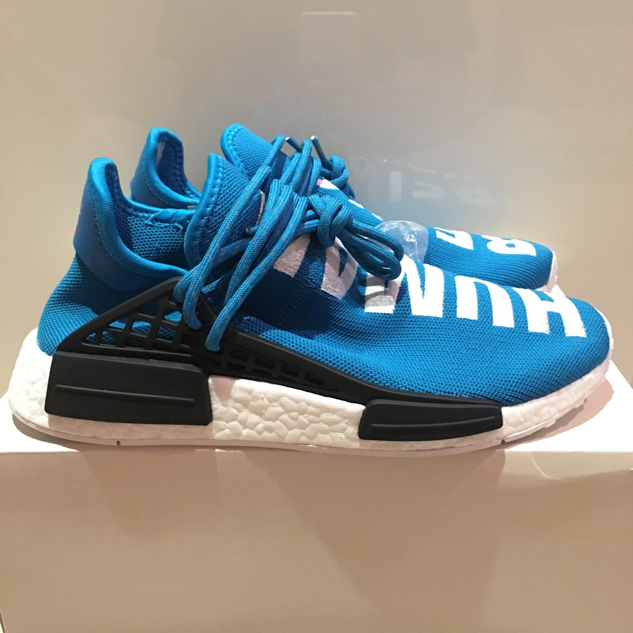 cd33413f94355 Adidas nmd human race blue uk7 Dswt and receipts Prefer to - Depop