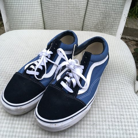 9bbc898881 Size 42 oldskool low cut vans in good condition worn only of - Depop