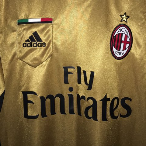 597b9aaf9 @sylvvv1. 2 years ago. Rockville, United States. Adidas A.C. Milan Gold Soccer  Jersey! This jersey has never been worn but ...