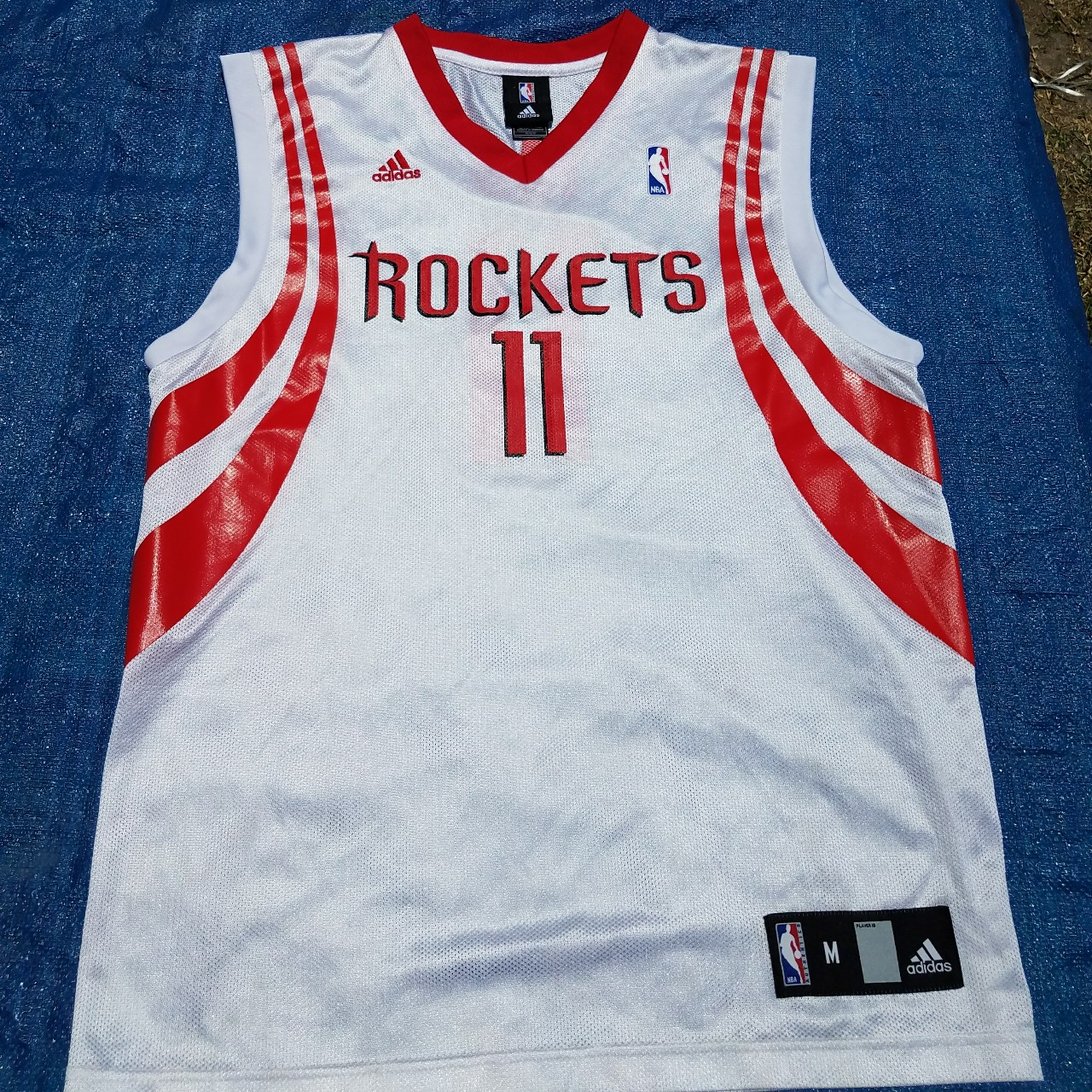 reputable site 3884f 548bc Adidas houston rockets home Jersey Yao ming 11... - Depop