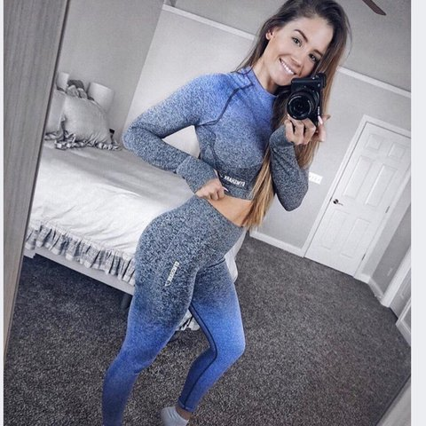 7777edce24c7e @fsumorgan. last year. Tallahassee, United States. NWT Gymshark Ombré  Seamless Crop Top