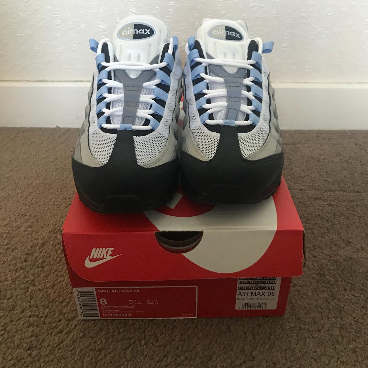 Nike air max 95 OG size 7 worn once no flaws