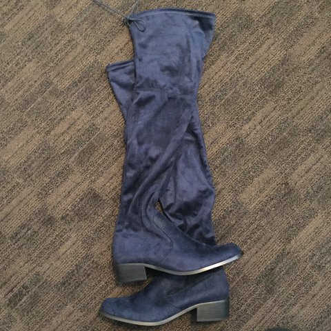 5a97c01dd7a Charles by Charles David Over the Knee Boots Deep Navy Blue - Depop