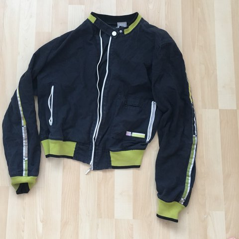 45cf5dc34580 Versace jeans couture bomber jacket. Well used but lots of - Depop