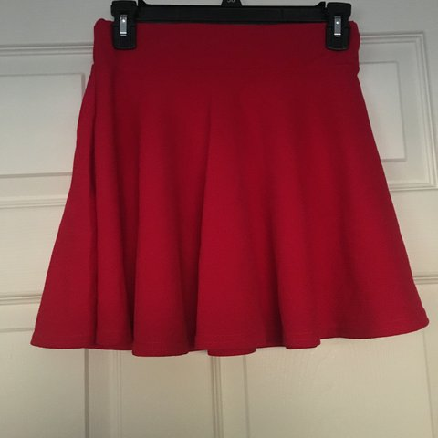 0416cccffd Red skirt worn for a performance. No brand, fits best on XS - Depop