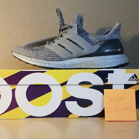 3450844c6 Adidas Ultra Boost Silver Super bowl Very new and good uk - Depop