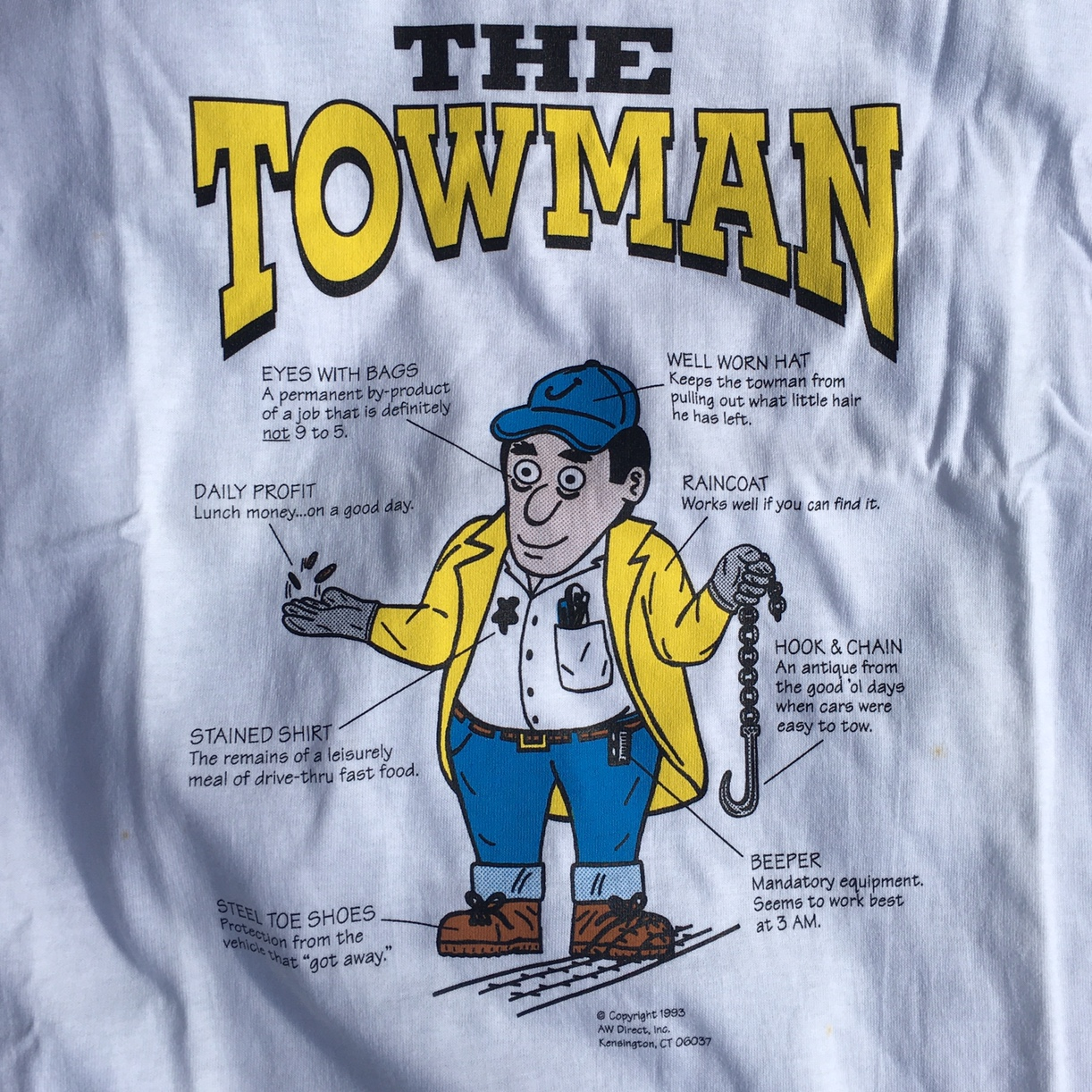 Vintage 1993 The Towman Tee Made In Usa Size Xl Depop A wide variety of aw direct options are available to you, such as material, use, and structure. depop