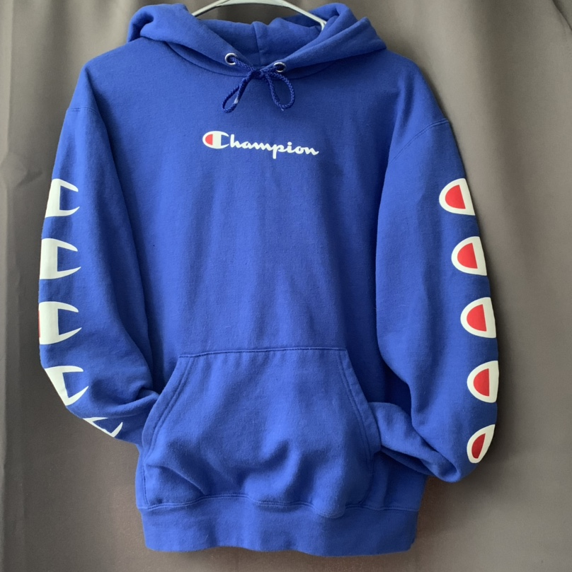 royal blue champion hoodie