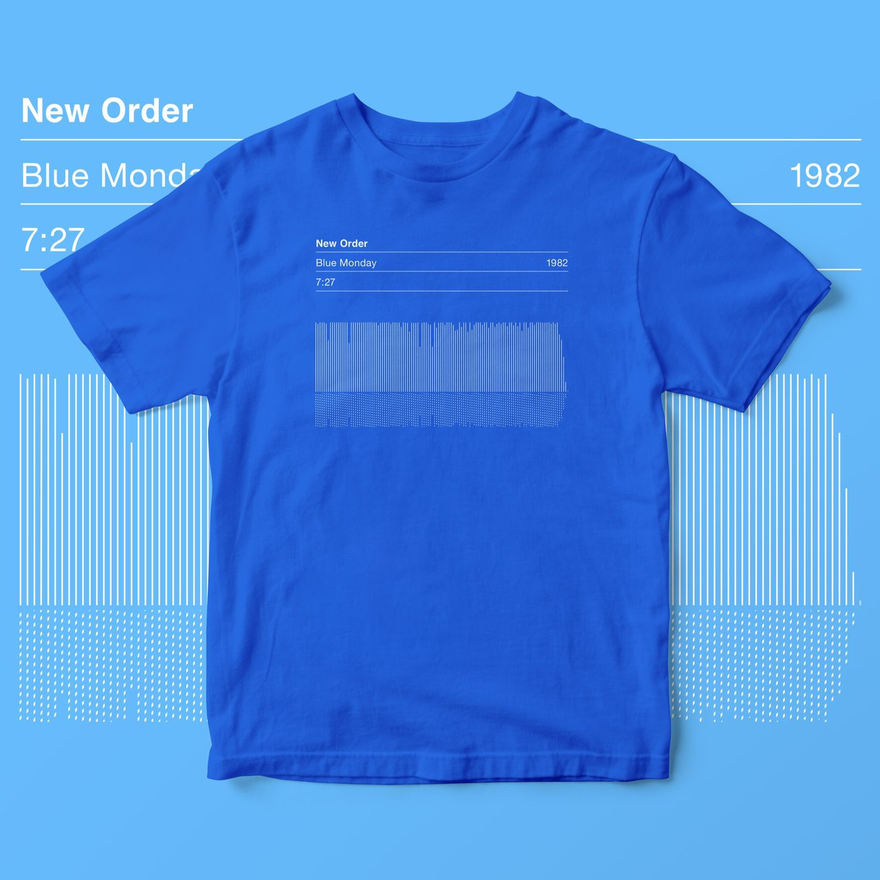 3403ced6e New Order 'Blue Monday' Song Sound Wave a hand screen crew M - Depop