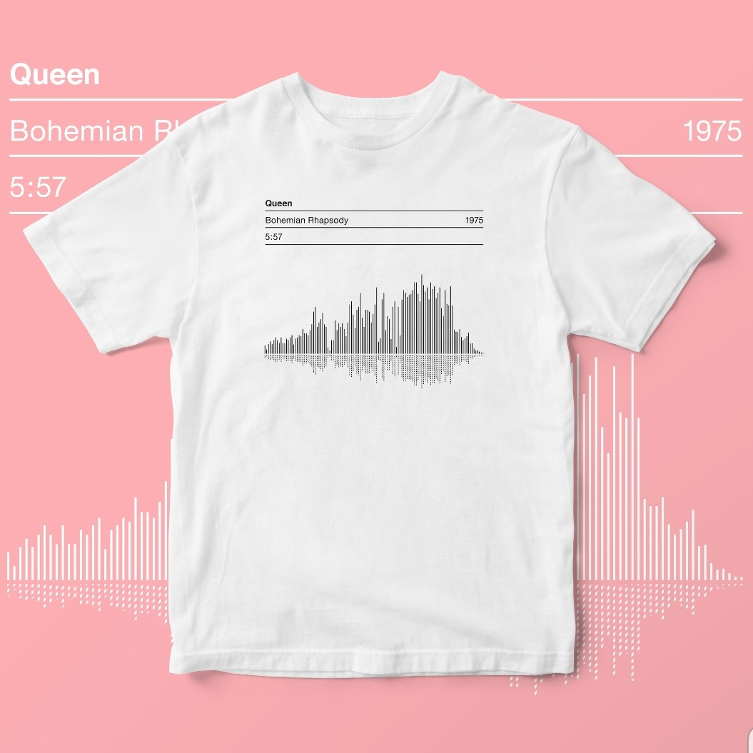 Queen 'Bohemian Rhapsody' Song Sound Wave Graphic