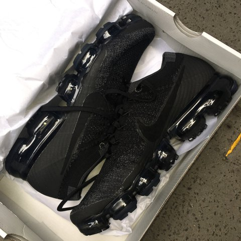 9c2c1f90a1fdb Nike Air Vapormax Black Size 8 Message me before and if to - Depop