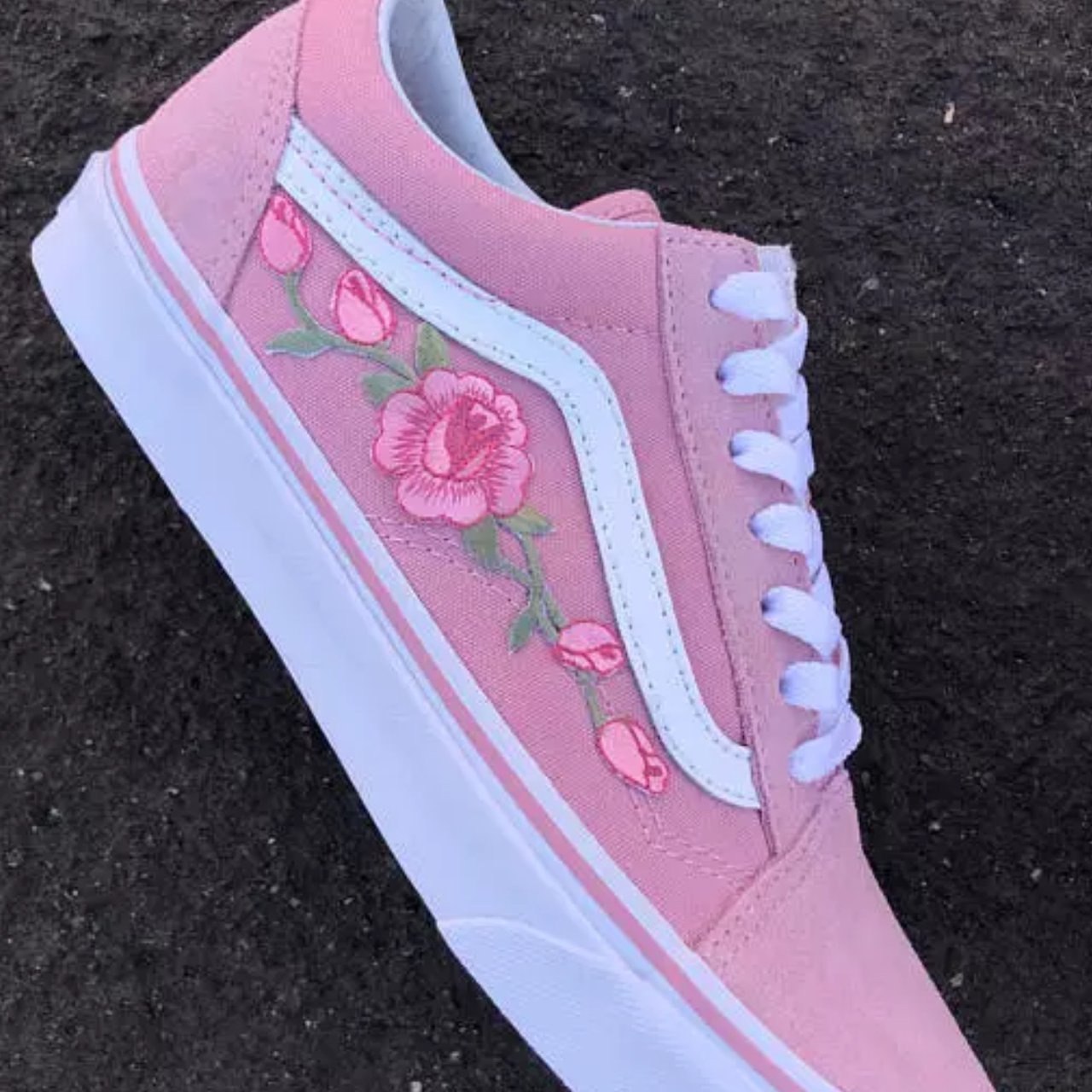 Brand new pink rose Vans any size