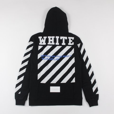 Off-Whitw Blue Collar Hoodie This Off-White hoodie is to - - Depop abf9f57fb