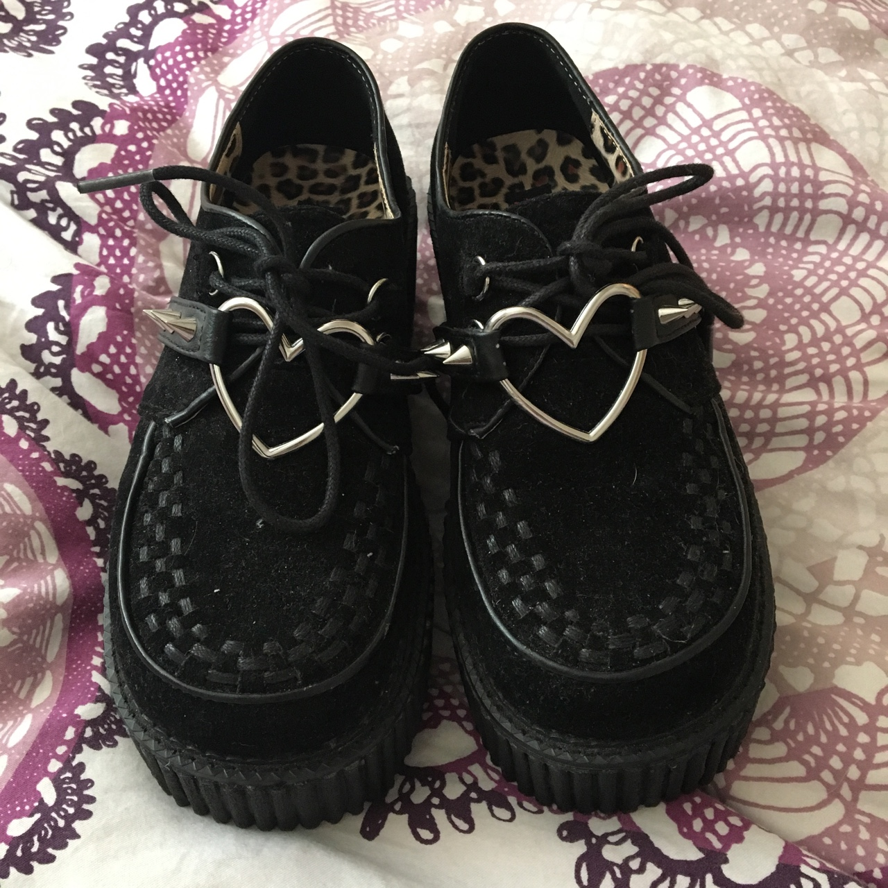 Demonia creepers with heart and spike