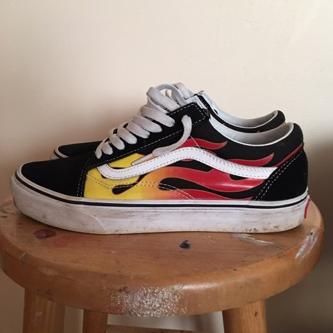 info for 306c4 28a55 Flame Vanz Womens 9.5  vans  off  the- 0