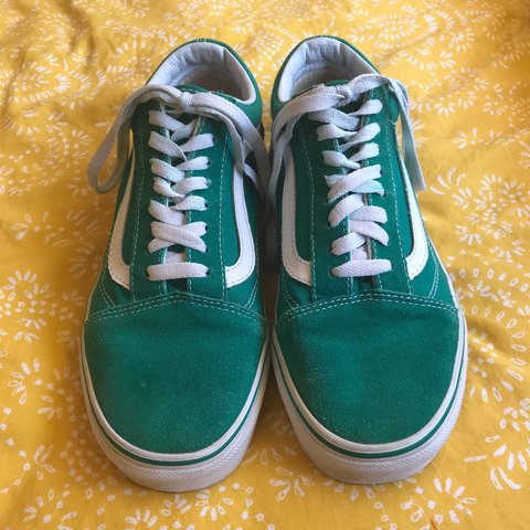 007a422b8a5 🌱Limited edition old skool green vans🌱 only worn a couple - Depop