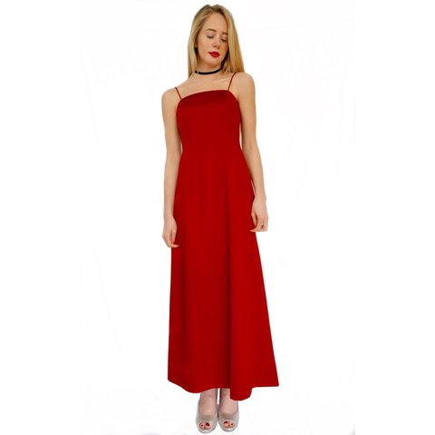 Simple Red Prom Dress