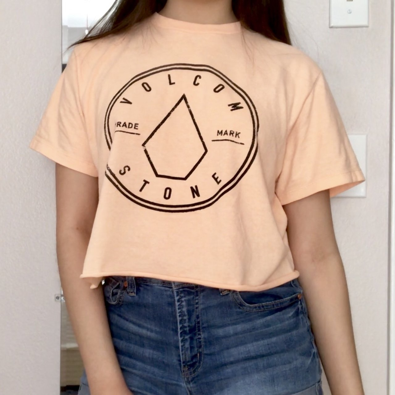 1e598ca3c41 peachy highlighter orange cropped volcom