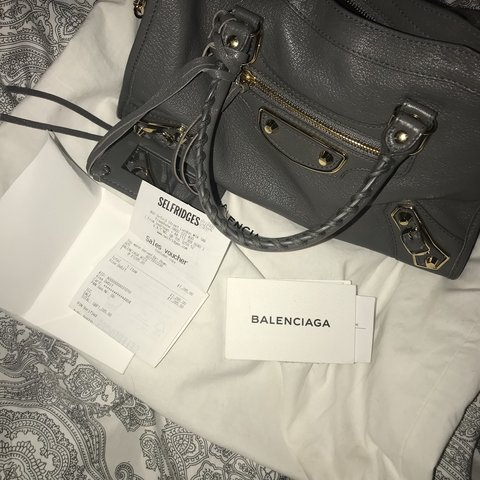 174bac2347e24 Balenciaga small city bag in grey. Purchased from oxford 4 - Depop