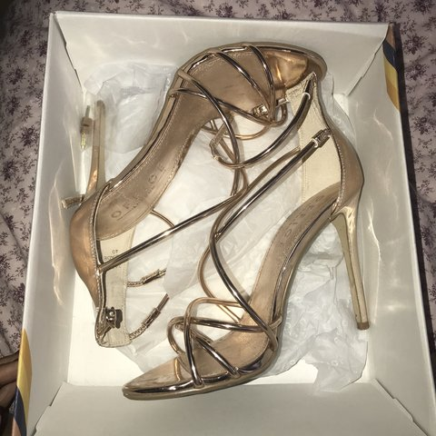 b3186c62ad5 Office Rose Gold strappy heels. Size 7
