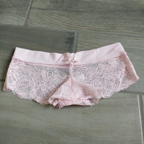 fa37ce67e Baby pink lace boyshorts NWOT Never worn -Tag says size fit - Depop