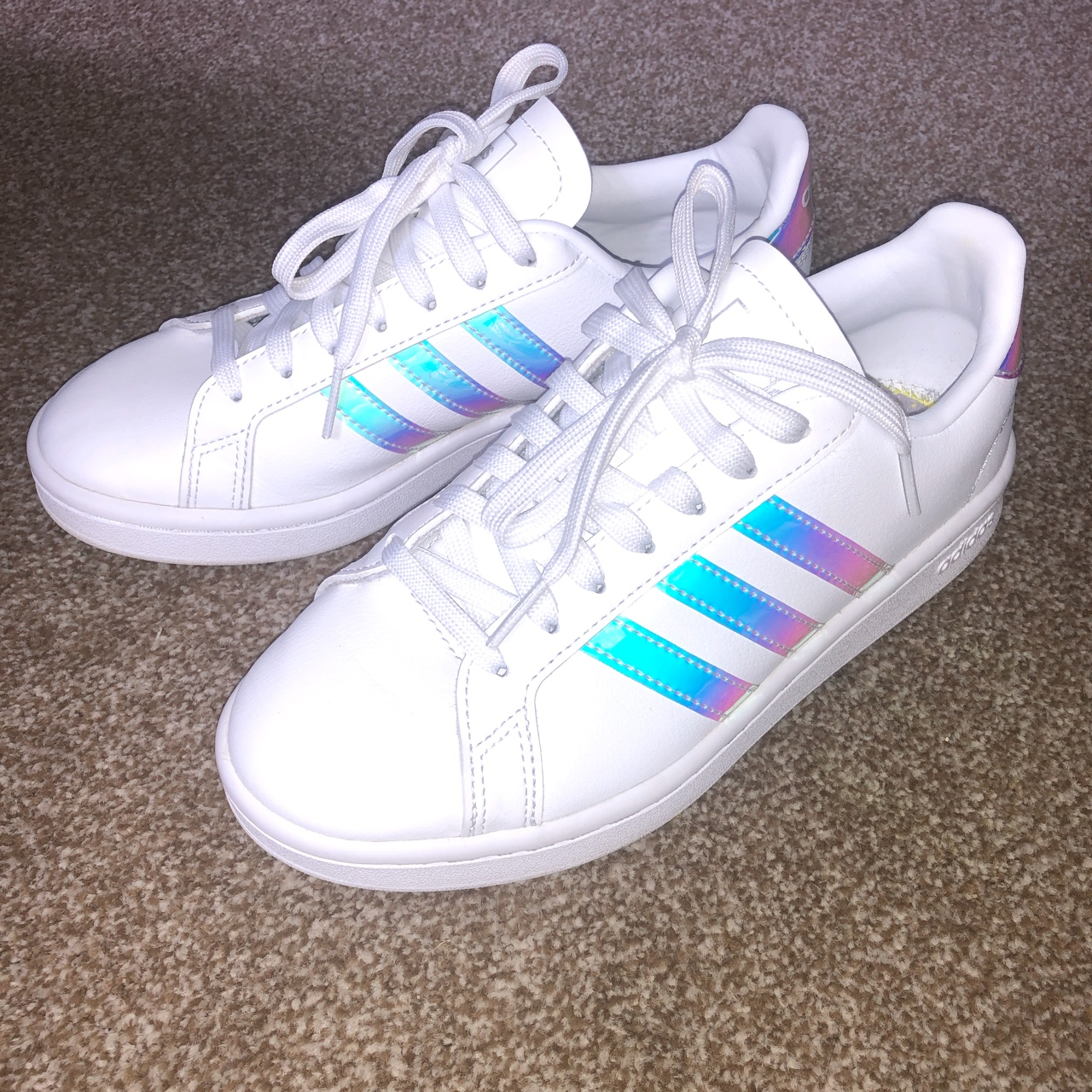 Adidas iridescent grand court trainers. Great...