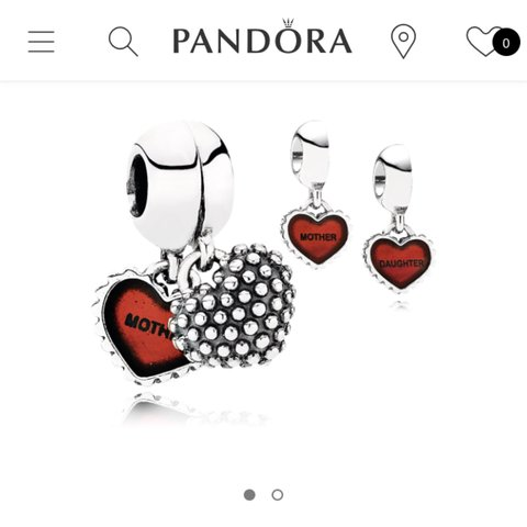 7bd7e9d7e GENUINE PANDORA!!!! Mother and daughter matching charms. to - Depop