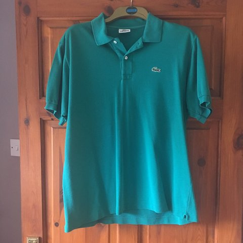 58949d6c Jade/turquoise) green Lacoste vintage polo 8.5-9/10 say but - Depop
