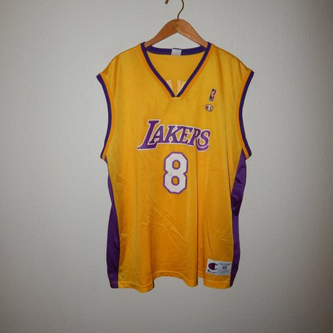 7a684b54bf4 @devinfromdca. last year. Colorado Springs, El Paso County, United States. Vintage  Los Angeles Lakers Kobe Bryant #8 champion jersey ...