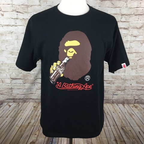 0304ca4e 2014 A Bathing Ape x Coca Cola 100% authentic T-shirt in one - Depop
