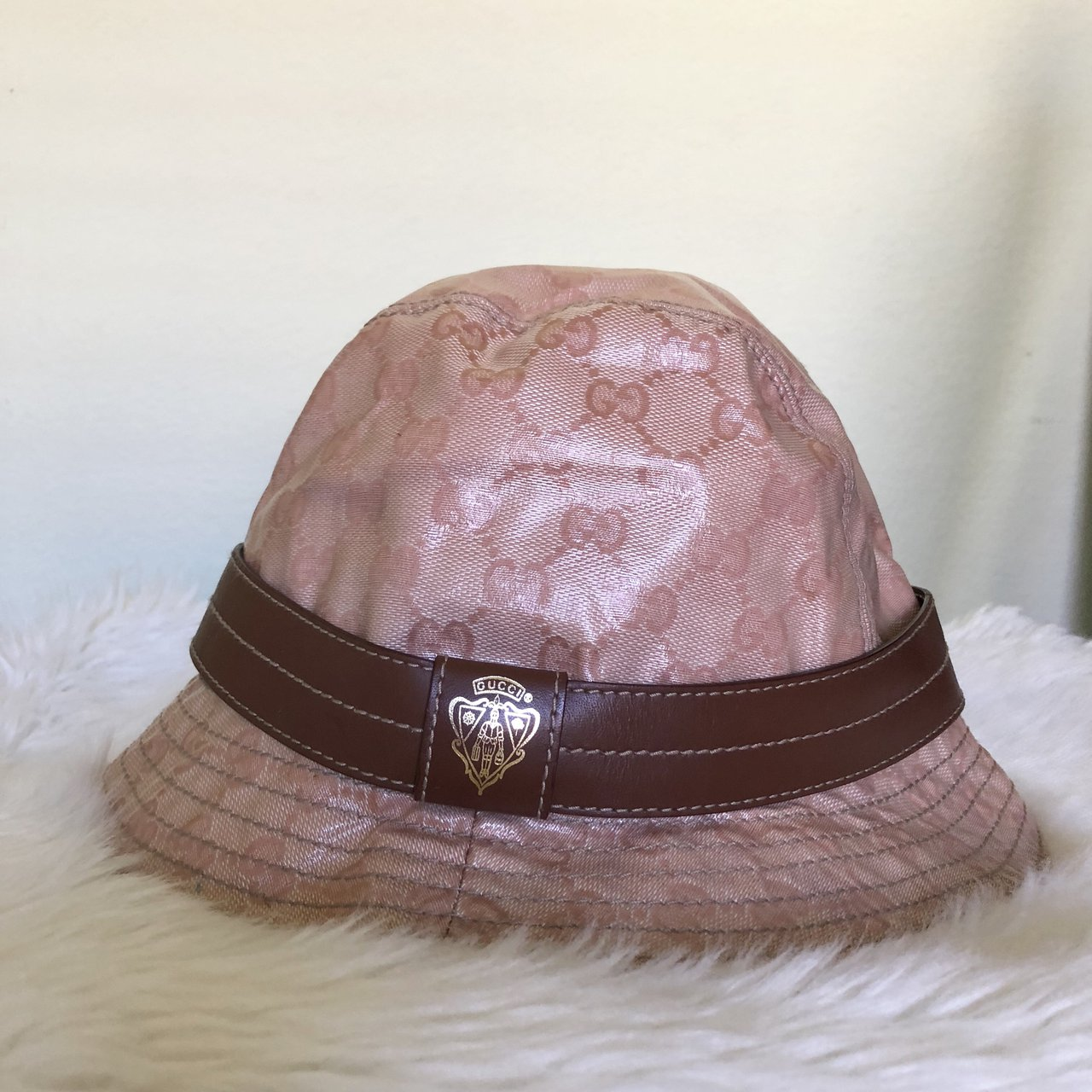 authentic vintage crystal Gucci bucket hat in a beautiful 😩 - Depop 236f2636a9b