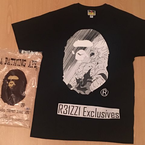 13f48ba6 ♤️SOLD PRIVATELY♤ EXTREMELY RARE BAPE X DRAGON BALL-Z is 7 - Depop