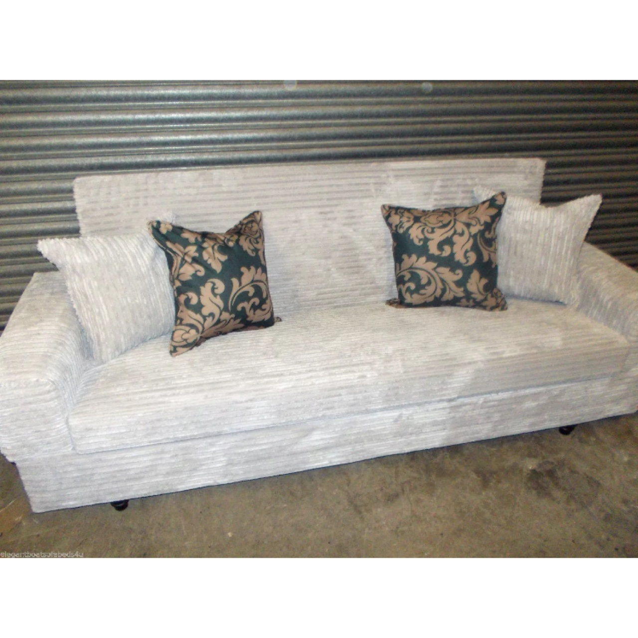 Cool Silver Grey Jumbo Cord Sofa Bed With Storage 3 4 Inzonedesignstudio Interior Chair Design Inzonedesignstudiocom