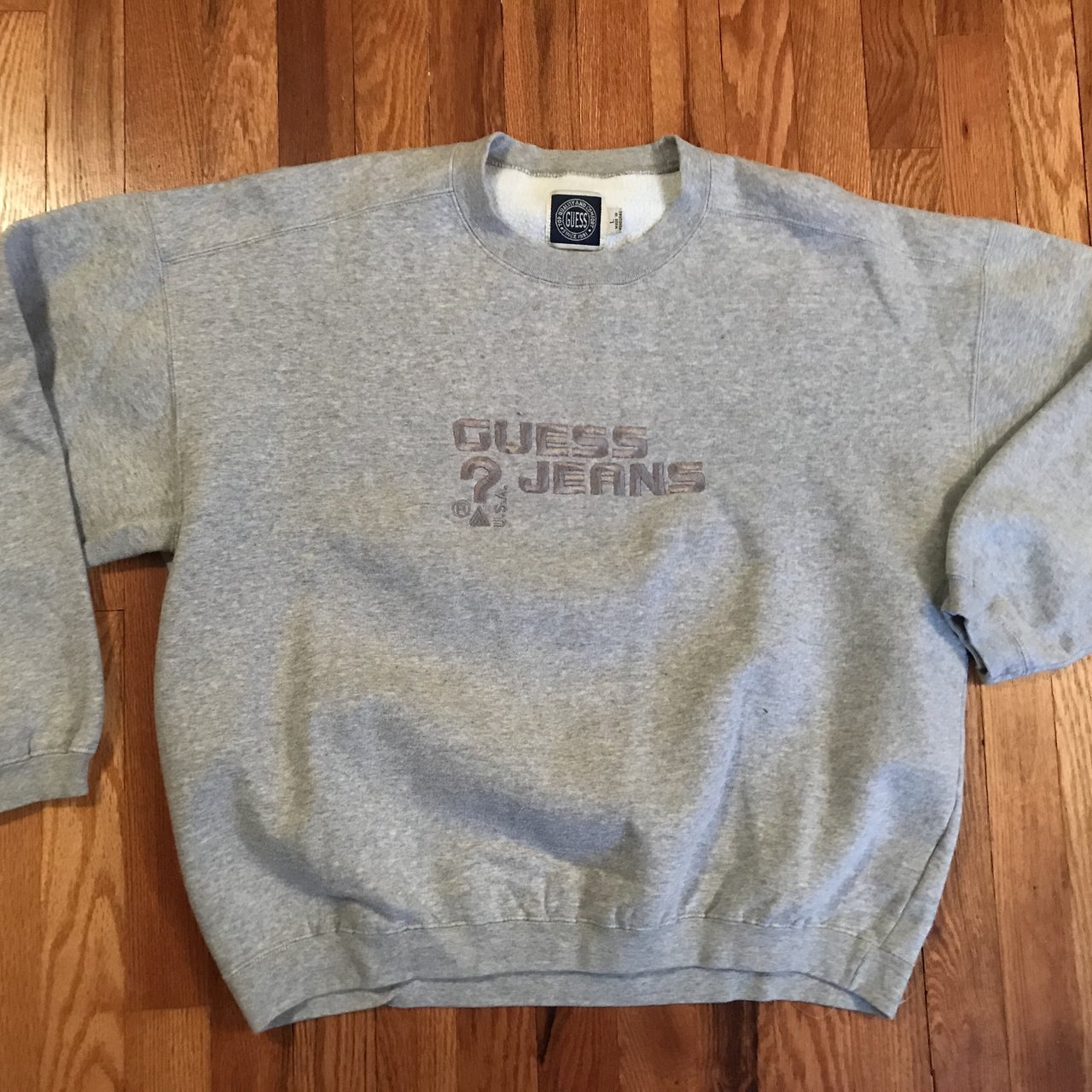 33e9ca043cc3 @vhshitfest. 16 days ago. Erie, United States. 90s Guess Jeans USA  embroidered crewneck sweatshirt sweater vintage hypebeast supreme  streetwear striped tee ...