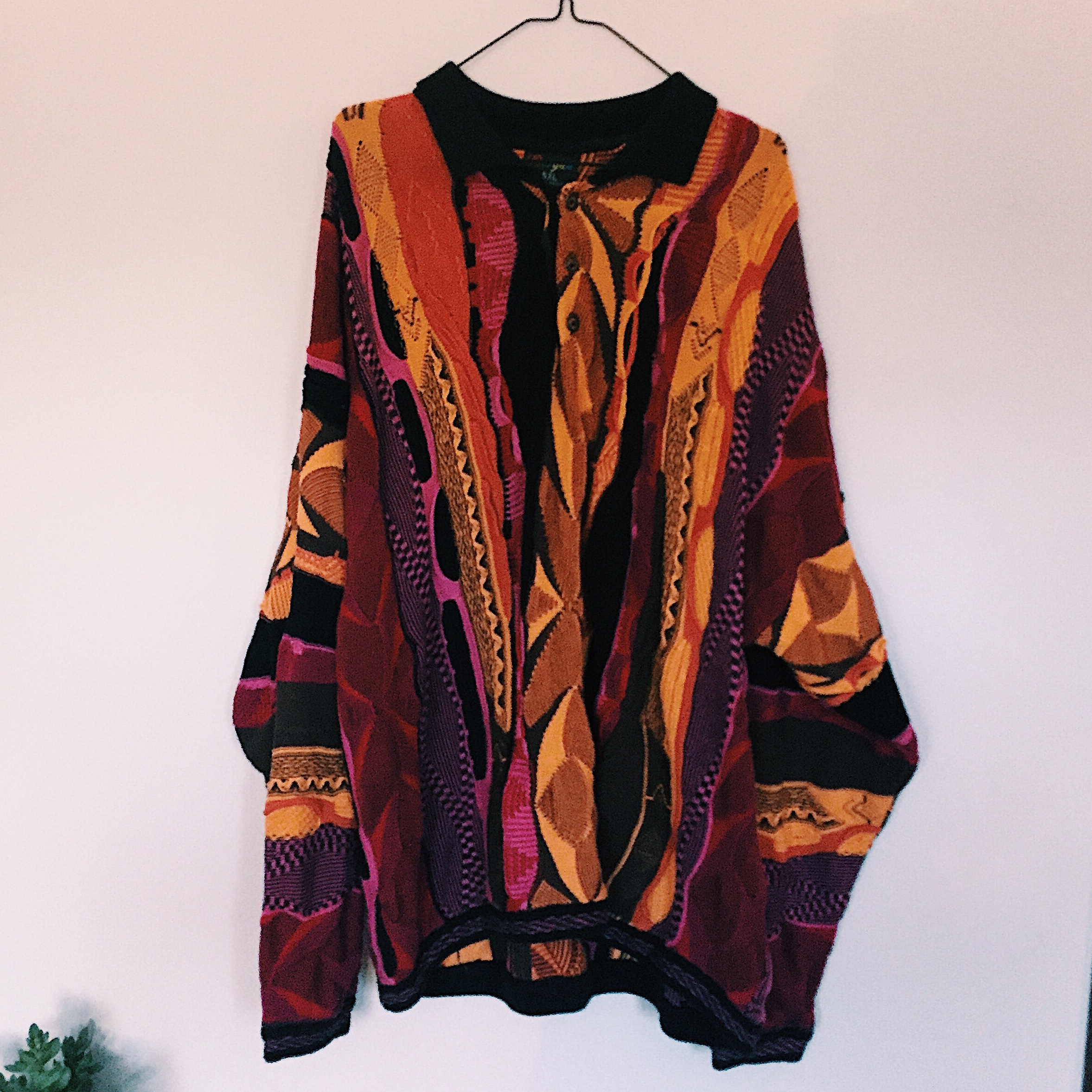 vintage 90s coogi-style sweater size 5xl ; overall... - Depop