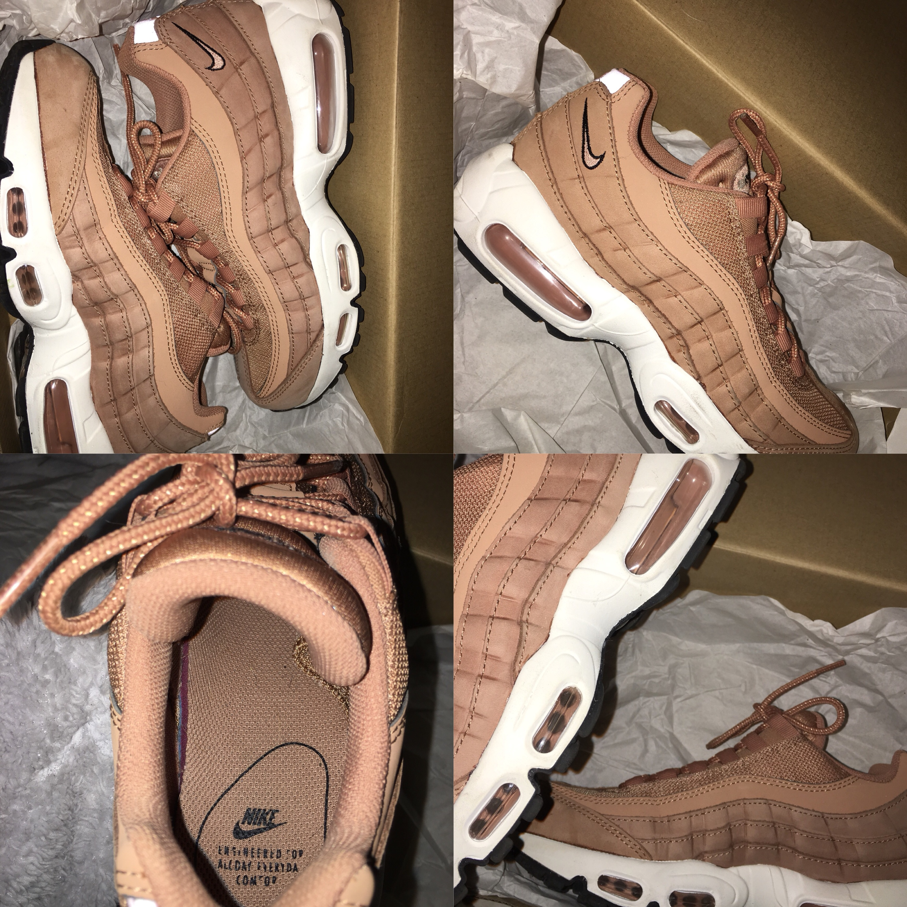 SUEDE DUSTY PINK/NUDE NIKE AIR MAX 95s