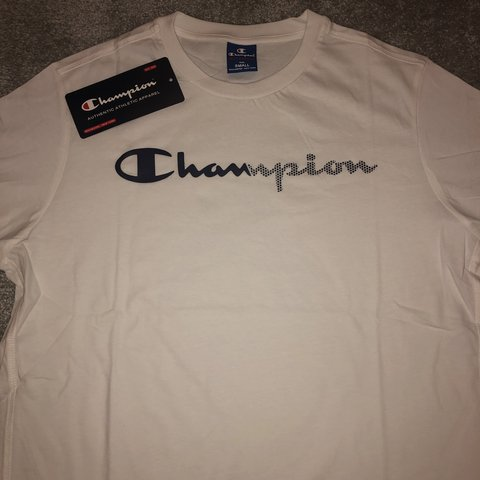 179523e7 brand new* with tags and original bag Champion T-shirt fit, - Depop
