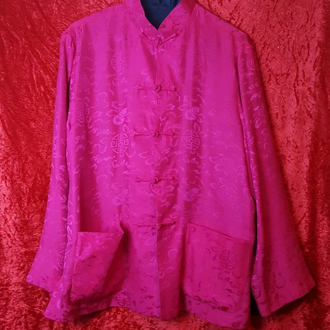 7e6633037330 17. 🐉 Chinese Changshan Inspired in a bright Fuchsia Pink a - Depop
