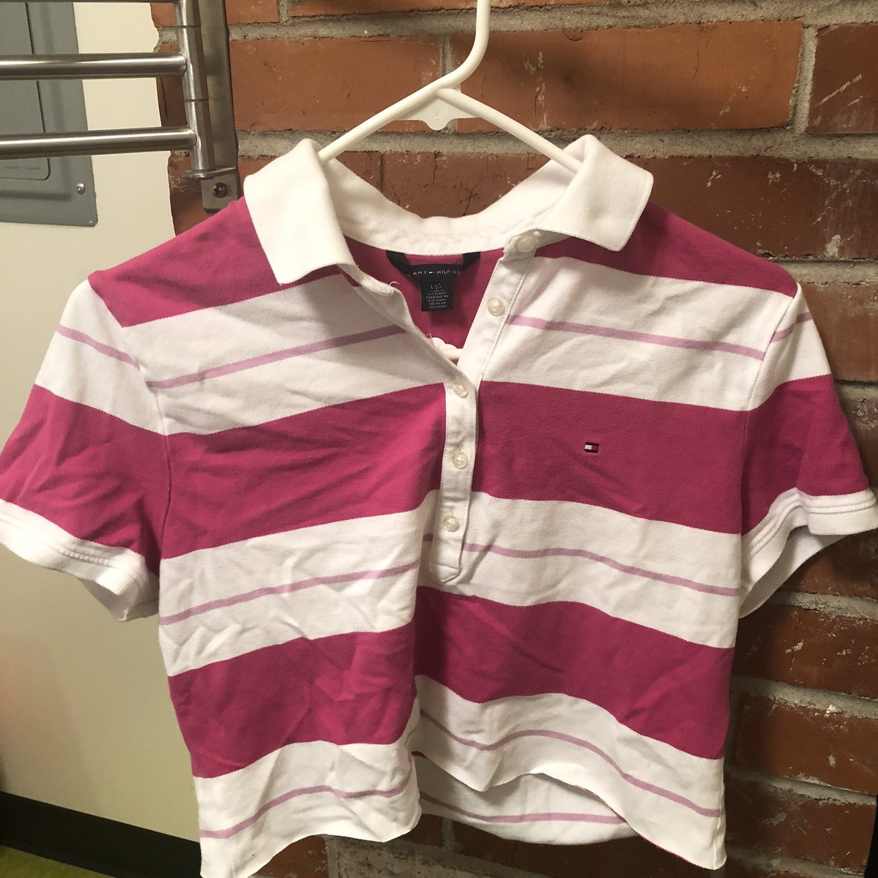 60d3ecb5b4057 Cropped Tommy Hilfiger Polo style top never worn and good - Depop