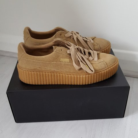 low priced 45028 daf39 Fenty Puma by Rihanna brown oatmeal creepers great... - Depop