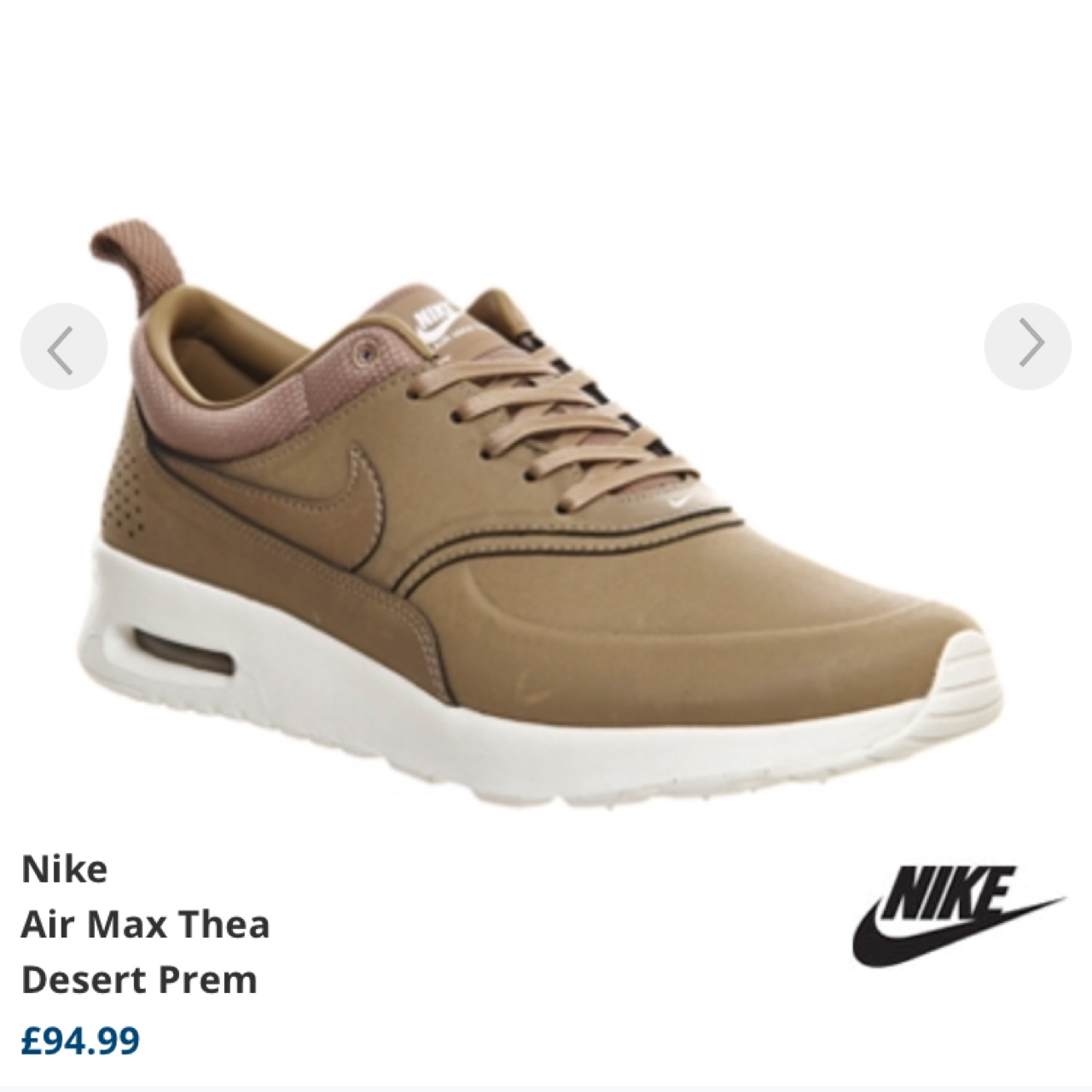 SOLD OUT. Brand New with box desertcamel Nike Thea