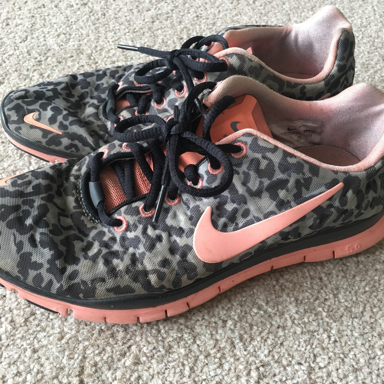 uk availability 0c886 afafd Nike Free TR Fit 3 Leopard print trainers UK Size... - Depop